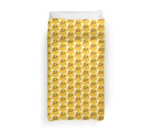 Face with stuck out tongue and tightly closed eyes emoji Duvet Cover