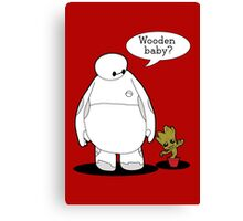 Wooden Baby Canvas Print