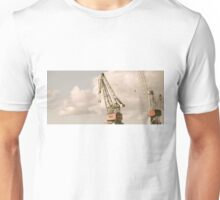 Cranes and Seagulls in Shipyard 1 Unisex T-Shirt