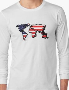 The New Empire (USA world map) Long Sleeve T-Shirt