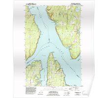 USGS Topo Map Washington State WA Longbranch 242048 1959 24000 Poster