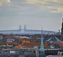 Oresund Bridge in Copenhagen by stevenmrichman