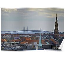 Oresund Bridge in Copenhagen Poster