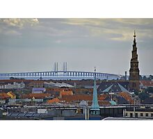 Oresund Bridge in Copenhagen Photographic Print