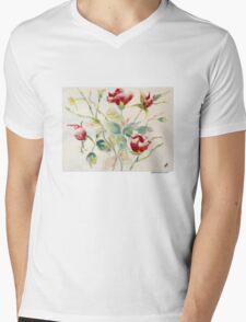 Grouping of Roses Mens V-Neck T-Shirt