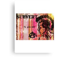 Subvert retro Canvas Print