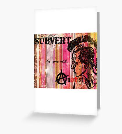 Subvert retro Greeting Card