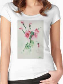 Rose Bouquet Women's Fitted Scoop T-Shirt