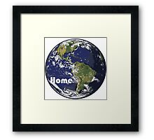 Earth - Home Framed Print