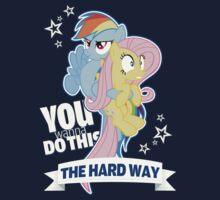 The Hard Way - Fluttershy & Rainbow Dash by SkyStar