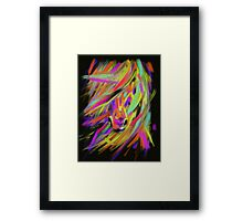 Horse Rainbow Hair Framed Print