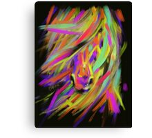 Horse Rainbow Hair Canvas Print