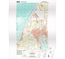 USGS Topo Map Washington State WA Oak Harbor 242885 1998 24000 Poster