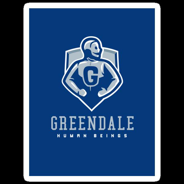 Greendale Human Beings - STICKER by WinterArtwork