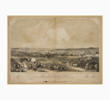 Panoramic Maps View of San Francisco Taken from the Western Hill at the foot of Telegraph Hill One Piece - Short Sleeve