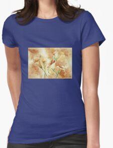 Golden  Calla Lilies Womens Fitted T-Shirt