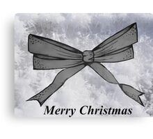 Christmas bow Canvas Print