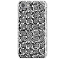 Black and white checked design  iPhone Case/Skin