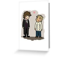 Sherlock and his Jawn Greeting Card