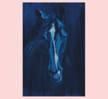 Horse - Apple indigo Kids Tee