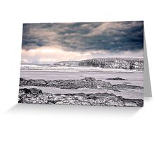 storm clouds with waves Greeting Card
