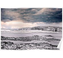 storm clouds with waves Poster