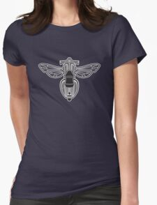 DoubleGood Vespa Wasp Womens Fitted T-Shirt