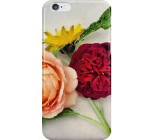 Sunflower and Roses Watercolor iPhone Case/Skin