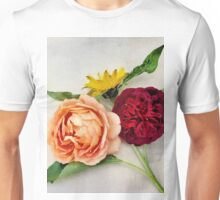 Sunflower and Roses Watercolor Unisex T-Shirt