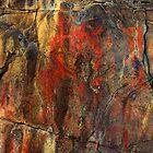A very colorful rock art panel in Oregon by Dave Sandersfeld