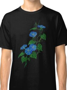 Blue Bindweed Isolated on White Classic T-Shirt