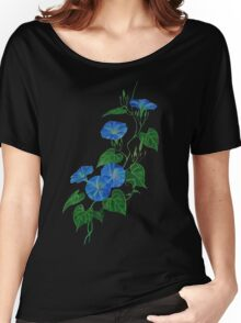 Blue Bindweed Isolated on White Women's Relaxed Fit T-Shirt