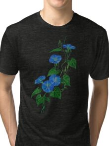 Blue Bindweed Isolated on White Tri-blend T-Shirt