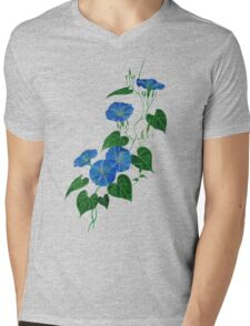 Blue Bindweed Isolated on White Mens V-Neck T-Shirt