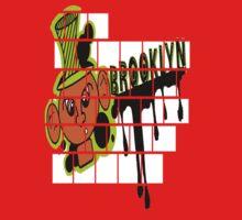 Brooklyn Graffiti Boy Kids Tee