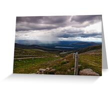 Watching Showers Cross The Highland Landscape Greeting Card
