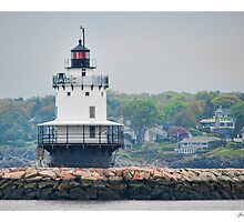 Spring Point Ledge Lighthouse by Richard Bean