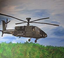 Apache helicopter mural by originalsbykaty