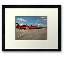 Reds Lined up Framed Print
