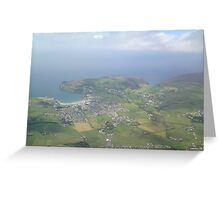 Port Erin From the Air Greeting Card