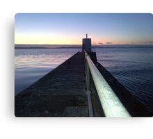 Pier into the light Canvas Print