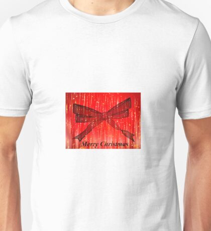 Christmas bow red Unisex T-Shirt