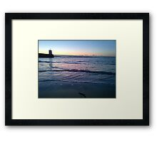 Lapping Sea Framed Print