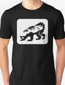 Honey Badger (white design) Unisex T-Shirt