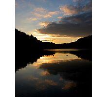 Lakeside Sunset Photographic Print