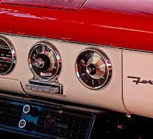 1955 Ford Fairlane Dashboard Instruments  by Jill Reger