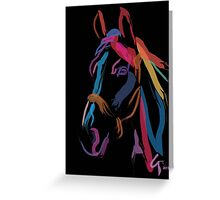Pillow horse color me beautiful Greeting Card