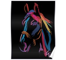 Pillow horse color me beautiful Poster