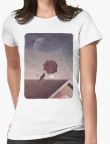 Twin Moon Womens Fitted T-Shirt