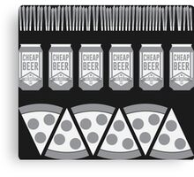 Beer & Pizza Canvas Print